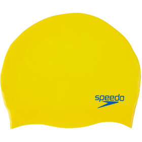 speedo Plain Moulded Silicone Cap Kinder empire yellow/neon blue